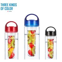Wholesale Solid Fruit Infuser Bottle High Quality Water Bottle Fruit Infusion Sports Bottle Flip Top Lid Made of Durable Eastman Tritan Cups F138