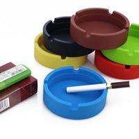 Wholesale X Portable Rubber Silicone Soft Eco Friendly Round Ashtray Ash Tray Holder