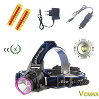 Wholesale 2000LM XM L T6 LED Headlamp headlight Torch Head Lamp Light led Bike lights camping fishing lamps camping lantern