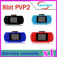 Wholesale 1pcs portable pvp bit game player pocket game with Free Game card built in classical games ZY PVP2