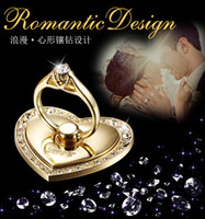 anti mobile phone - Big love metal mobile phone creative ring buckle anti stolen heart shaped diamond brace anti stent
