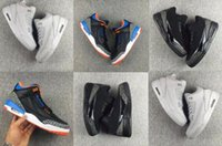 big corks - Sneaker Big Discount Air Retro III Black Orange White Men Basketball Shoes Top Quality Sizes USA
