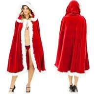 Wholesale cosplay Santa cloaks role playing uniform Christmas costume red cloak adult female sexy euramerican popularity