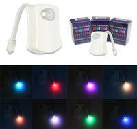 Wholesale Waterproof Motion Activated Toilet Night Light by Diateklity Two Modes with Color Changing Sensor LED Washroom Night Light