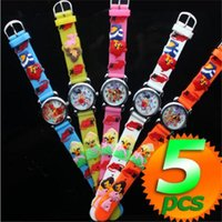 Wholesale Boys Girls cute D cartoon watch waterproof silicone Quartz Wristwatch for kids frozen poke pikachu badmen princess watches gifts for kids