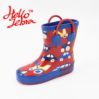 bee rain boots - Children Rubber Rain Boots Printing Cat Bee Car Cute Girls Boys Baby Kid Waterproof Cartoon Shoes New kinderen regenlaarzen With Animal