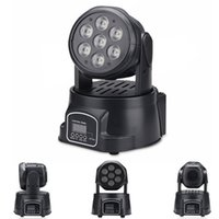 Wholesale Mini moving head lights DMX512 LED x10W RGBW Colorful stage lighting wash lights with LCD display good ideal for KTV DJ Disco