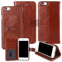 Wholesale mobile phone case wallet with kickstand leather card pocket case for iphone s with phone pouch