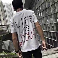 al por mayor tapa blanca básica-Las camisetas de los hombres de lujo del diseñador de la marca de fábrica del verano 2017 de la marca de fábrica de G diseñan las camisetas blancas básicas de la camiseta de la ropa de los hombres de la manga del cortocircuito de la manga