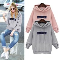 Wholesale The new winter lady and the wind in the spring and autumn coat loose and long sleeve blouse with short female cashmere Hoodie