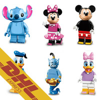 aladdin mix - 480pcs Mix Order Minifig Mickey Mouse Minnie Mouse Donald Duck Daisy Duck Aladdin Gennie Stitch Mini Building Blocks Figure Toy