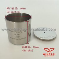 Wholesale Capacity cc Excellent Stainless steel Density Cup Specific Gravity Cup