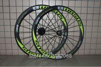 Wholesale 1pair Newest URSUS green C mm tubular rims Road bike matte K UD K full carbon fibre bicycle wheelsets light parts