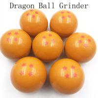 Wholesale 3 Layers new stars dragon ball Grinder Herb Tobacco chicha hookah smoke mm Crusher Grinder Hand Muller