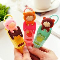 Wholesale CuteTeddy Bear Portable Fruity Hand Sanitizer Reusable Bottle Leave in Liquid Soap Bathroom Accessories