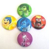 Wholesale 4 cm Inside out Movie Brooch Badge Cartoon Mood Badge Plastic Brooch Pin Clip Fashion Accessories Baby kids Children Gifts