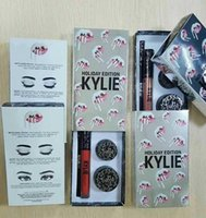 best gels - Kylie holiday edition kit new coming Kylie Jenner Matte Lipstick Lip Goss eye liner gel liner creme shadow with best quality