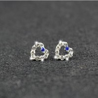 Wholesale Cheap Diamond Shaped Earrings - The new diamond pendant earrings cheap dunk bag mail bride wedding accessories popular Heart-shaped diamond Bridal Jewelry a package mail