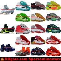 ankle boots spike - Mens Football Boots Neymar Hypervenom Phantom JR Magista Obra Mercurial x EA SPORTS Superfly CR7 FG Soccer Cleats High Ankle Soccer Shoes