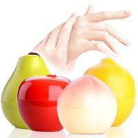 al por mayor fragancias frutales-Crema para las manos de la fruta al por mayor-Linda que blanquea las fragancias hidratantes de las frutas Melocotón Manzana Limón Cuidado de la mano 30g
