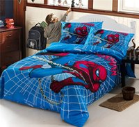 Printed bedspread patterns - Spider Man Ultraman Marvel Iron Man Single Twin bed linens Sets Bedspread Quilt Cover Pillow Case Bedding Sets Boys bed sets Patterns