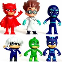 7.5-9.5cm 2017 PJ masque PVC action figure collection modèle de jouets pour enfants enfants jeux vidéo cadeaux de Noël 6pcs / lot PX-D06
