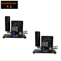 Wholesale Freeshipping XLOT Single Side Pipe Co2 Machine Portable Stage Effect Equipment Swing Jet LCD DMX Digital Address Setting Power in out Con