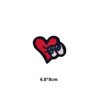 Sequins Patches bags love shoes - Love Heart Embroidered Sequines Patches Iron on for Boy Girl Clothing Hat Shoes Bag Decorative DIY Accessories Appliqued