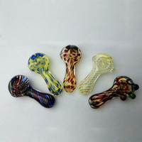 Wholesale Smoking Blown Glass Hand Pipes Cheap Pyrex Glass Tobacco Spoon Pipes Mini Small Bowl Pipe Unique Pot Pipes Smoking Pieces