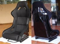 Wholesale One Buckets Series Car Seat MJ Fiberglass Frame Black Blue Red Alcantara Suede Cloth Racing Car Bucket Seats