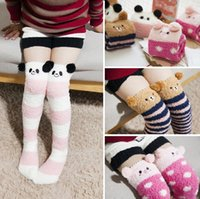 animal christmas stockings - Soft cotton socks velvet high side let go sleep sox series Kids socks warm children s Christmas stockings for family