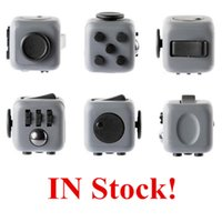 Wholesale Stock Offer Fidget Cube Squeeze Fun Stress Reliever Gifts Relieves Anxiety and Stress Juguet For Adults Children Fidgetcube Desk Spin Toys