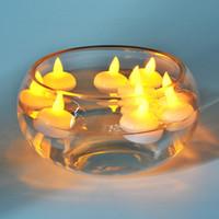 12pcs Bougie Flottante Lampe Led Tea Light Bougies Mariage Lotus Bougies D'anniversaire Flameless Led Electronique Led Décoration Lumière