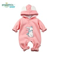 baby red squirrel - New Year Baby Rompers Newborn Infant Clothing Cotton Long Sleeve Cartoon Rabbit Squirrel Hooded Jumpsuit Winter Boy Girl Clothes