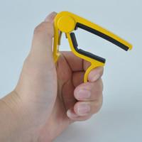 Wholesale Yellow Single handed Guitar Capo Quick Change Trigger Capo Guitar Accessories