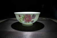 Wholesale Rice Bowl Ceramic Dessert Salad Bone China Translucency White Light