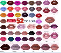 Wholesale 52 color makeup lipstick good quality matte lipstick matte lipgloss with waterproof
