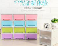 Wholesale Fashion home small drawer plastic storage box bedroom storage cabinet home storage collect home stuff hot