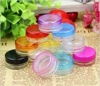 Wholesale 20pcs g plastic cosmetic container black Plastic cream jar Makeup Sample Jar Cosmetic Packaging Bottle
