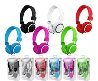 Wholesale Christmas Popular brand Headphone Headband Over Ear Headphones Rotatable good bass Earphones brand new with Retail Package in stock
