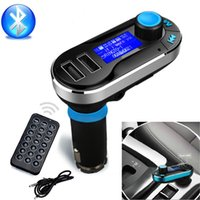 Wholesale Hot Sale Bluetooth Car Kit Speakerphone MP3 Player FM Transmitter SD USB Dual Silver and Blue