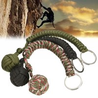 ball steel cans - Paracord Monkey Fist with heavy Steel Ball inside can be used as Knife Lanyard or Survival Tool