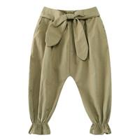 Wholesale Girls Trousers Boys Pants Brand Kids Leggings for Girls Harem Pants Sold Color Casual Bow Girls Leggings Pantalon Fille