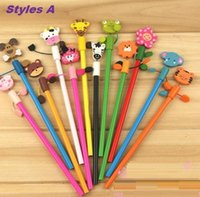 antique child sale - Hot sale Creative cute Antique animal pens child pencils office and study pens child pencils styles new arrival s