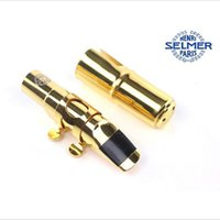 Wholesale High Quality SELMER Gold Plated Jazz Metal Alto Saxophone Mouthpiece Size E Professional Saxophone musical instruments
