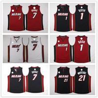 best enzymes - Hot Sale Hassan Whiteside Shirt Chris Bosh Shirt Goran Dragic Shirt Fashion Team Color Black Red White Best Quality