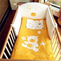 Wholesale European Pali baby bedding set pieces crib infant bedding cover bear cotton baby bumper pad
