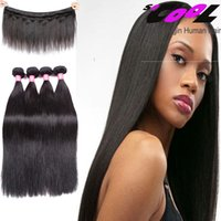 Wholesale 400g Peruvian Straight Hair A Grade Real Virgin Human Hair Bundles Soft and Silky