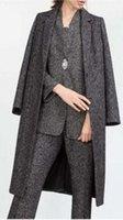 Wholesale 2016 the new model of brand autumnoutfit long wool woolen cloth coat dust coat
