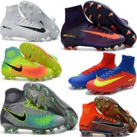 Soft Spike Unisex Outdoor Cheap Soccer Shoes Mercurial Superfly V FG Men High Quality ACC CR7 Magista Obra II Football Shoes For Sale Hypervenom Cleats Sports Boots